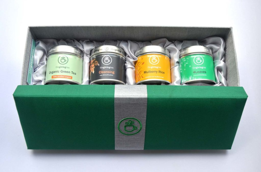 the giving tea silk box