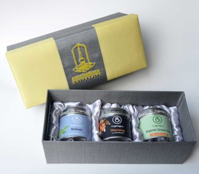 MSU gift set. Tea from Thailand. Custom logo. University gift.