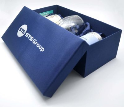 STS Group corporate gift set. 2 tea tins