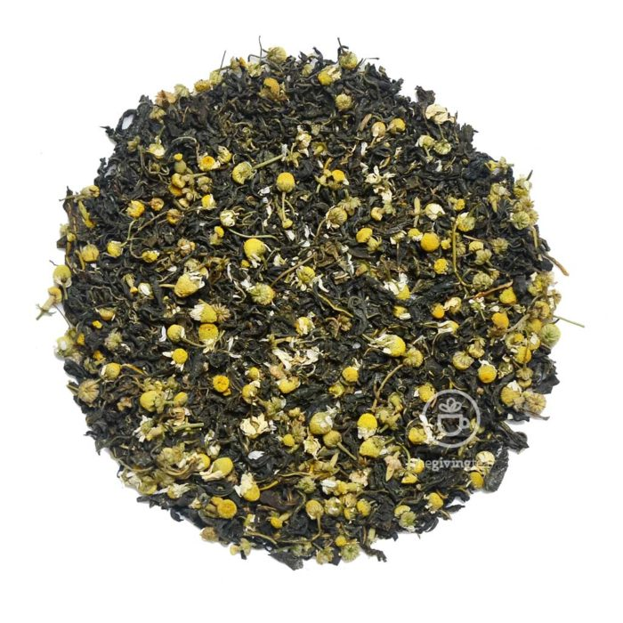 Cure and Care herbal blended tea. Chamomile tea
