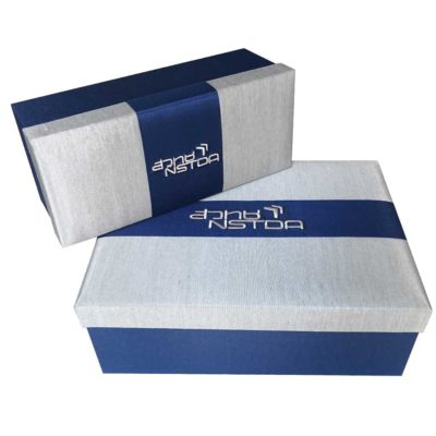 NSTDA silk box tea set. corporate gift. customized logo