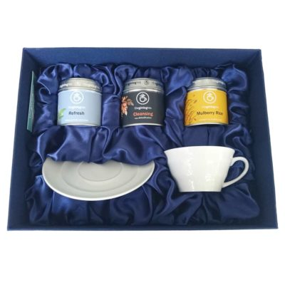 Made to order Tea gift set. corporate gift.