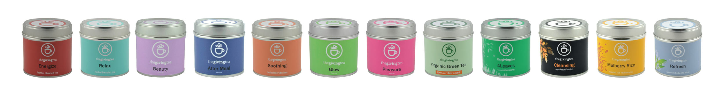 The Giving Tea product line