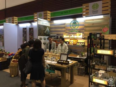 The Giving Tea booth at organic and natural expo 2017