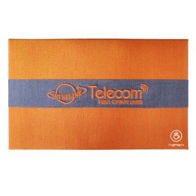 ปักโลโก้บริษัท Interlink Telecom
