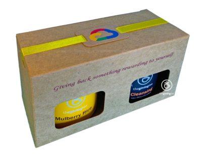 ชุดของขวัญ Google Cloud ชาในกล่องกระดาษ