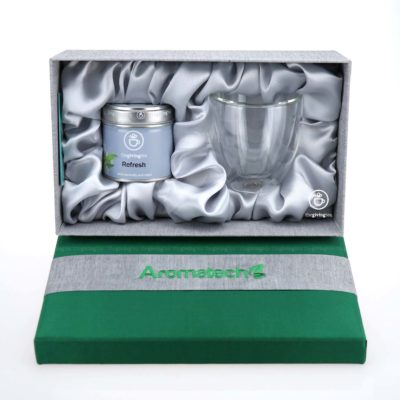 Aromatech green tea silk box set