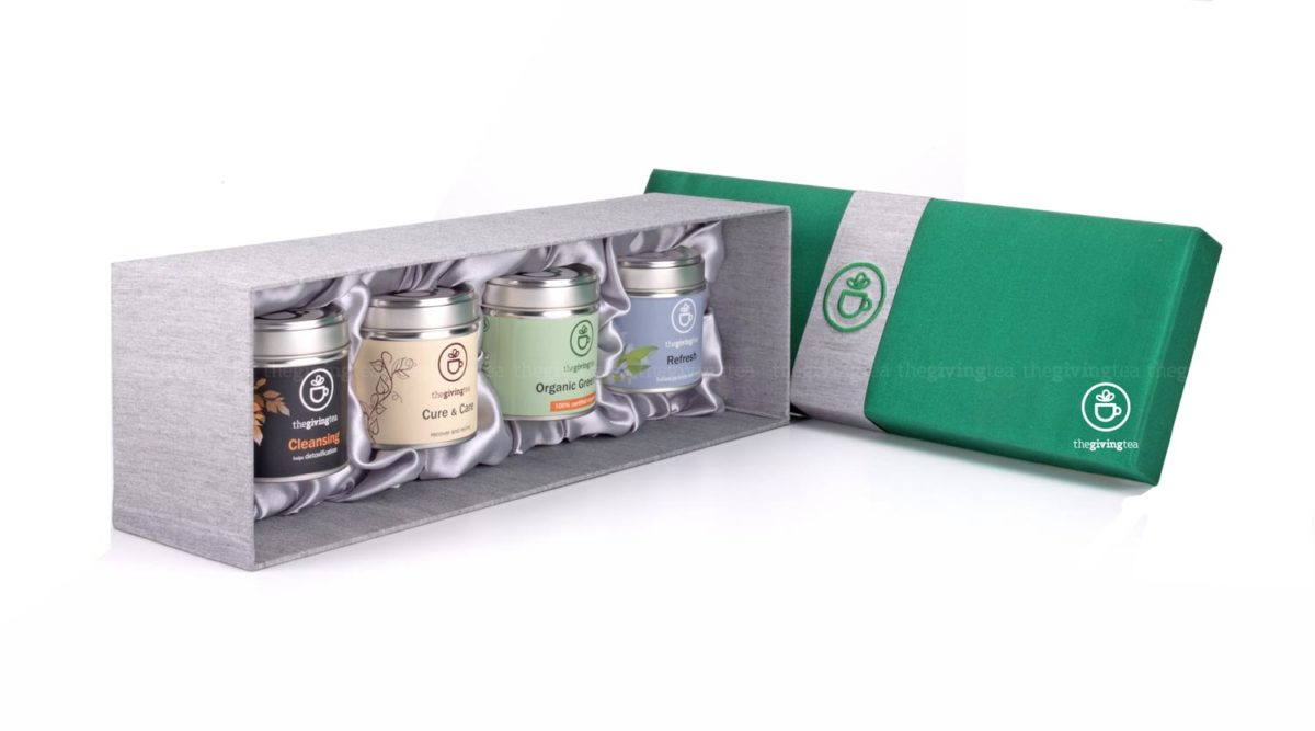 Tea lover Premium herbal blended tea in silk box
